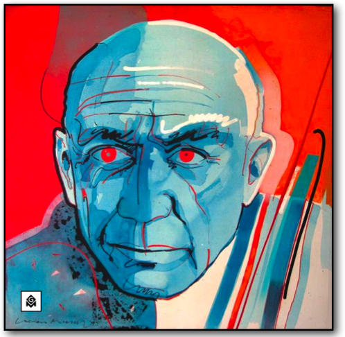 Luciano Micallef Portrait of Picasso
