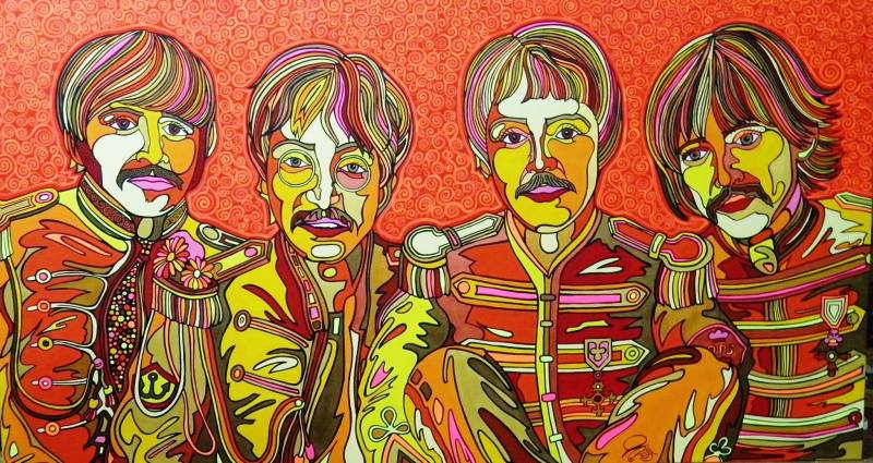 the Fab Four Pop Art