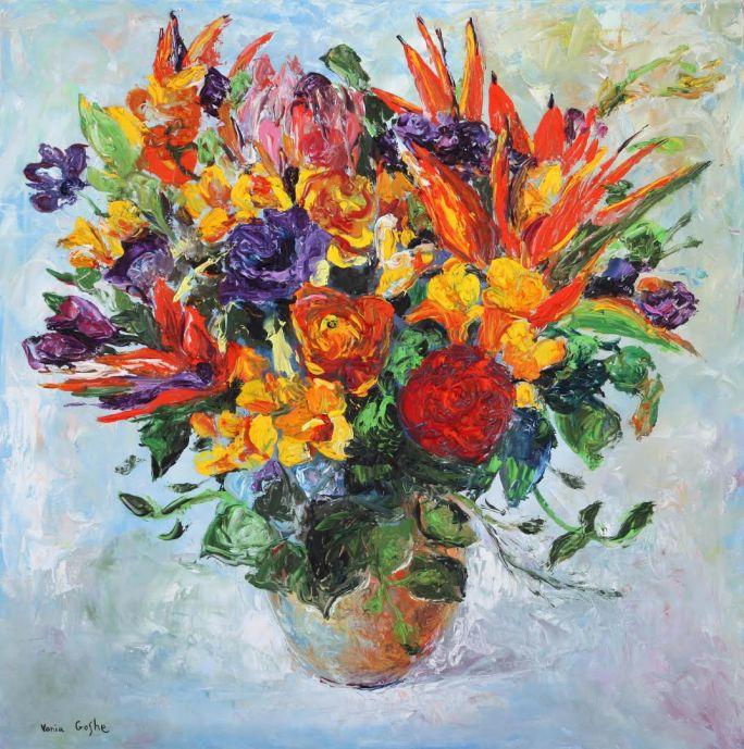 Flowers art by Vania