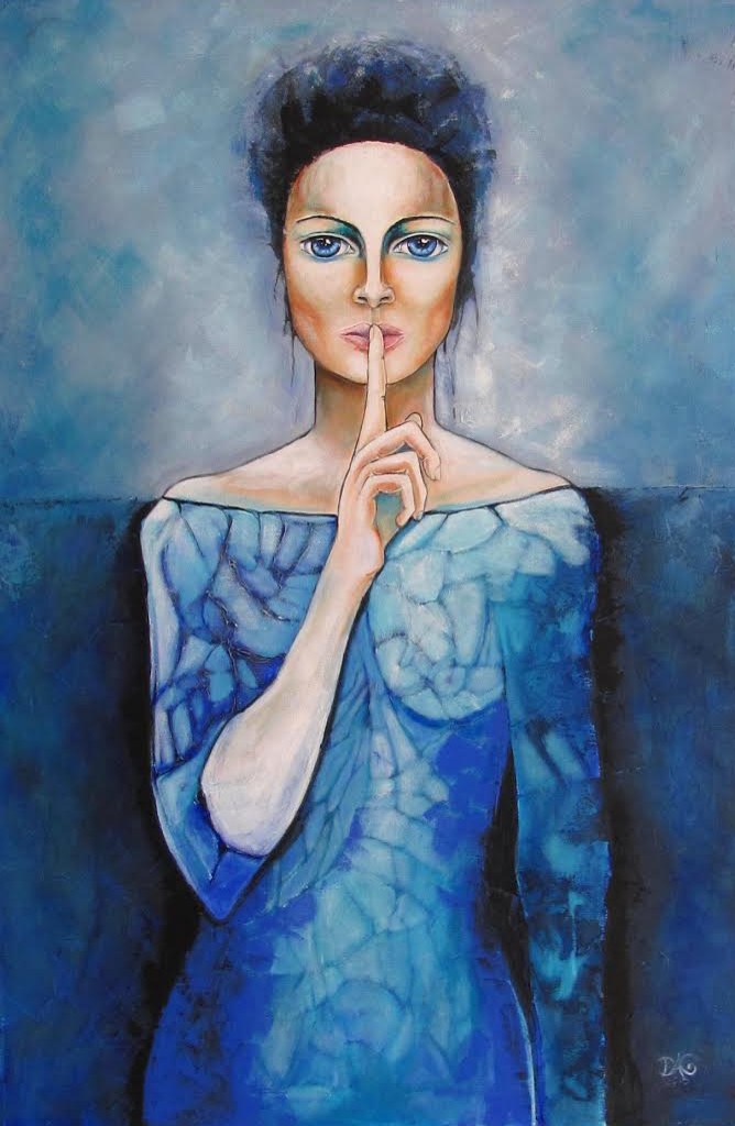Blue Silence Expressionism Art