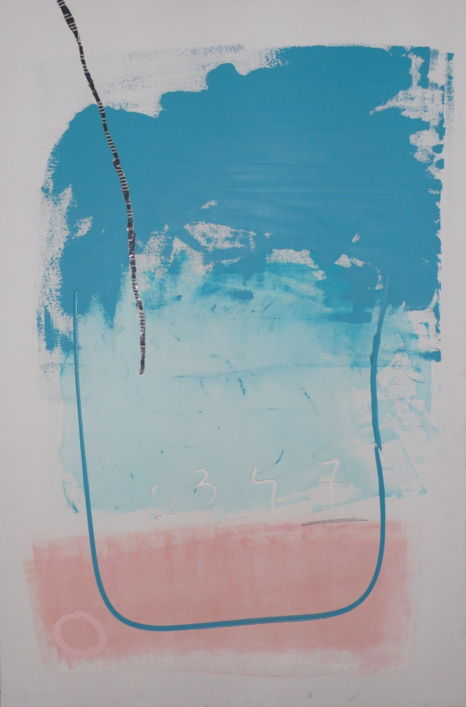 Vency Abstract Art Blue Pink
